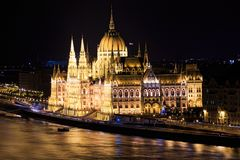 De stad van Boedapest royalty-vrije stock foto