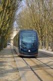 De stad van Bordeaux en zijn tram royalty-vrije stock foto's
