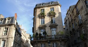 De stad van Bordeaux, gotische kathedraal in Frankrijk royalty-vrije stock afbeeldingen