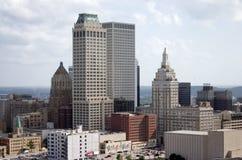 De stad in van boven 02 Stock Foto's