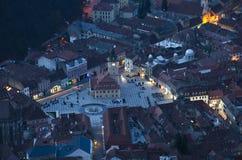 De stad van Brasov Stock Afbeeldingen