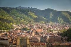 De stad van Brasov, de oude stad, de stad in het hart van Transsylvanië Stock Afbeelding