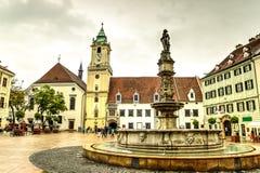 De stad van Bratislava, Slowakije Royalty-vrije Stock Foto's
