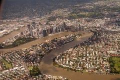 De Stad van Brisbane Stock Foto's