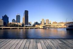 De stad van Brisbane Stock Afbeeldingen