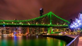 De Stad van Brisbane 's nachts - Queensland Australië royalty-vrije stock foto
