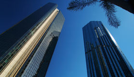 De Stad van Brisbane. Wolkenkrabbers. Stock Foto's