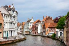De stad van Brugge in België stock fotografie