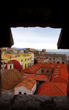 De stad van Cagliari. Sardinige, Italië Stock Foto's