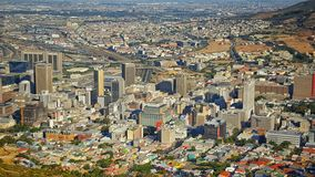 De Stad van Cape Town Stock Foto's