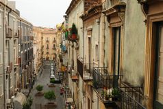 De stad van Catanië Royalty-vrije Stock Foto's