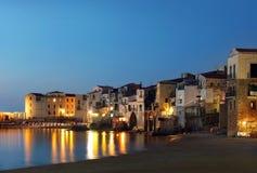 De stad van Cefalu, Sicilië Stock Fotografie