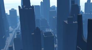 De stad van CG Stock Afbeeldingen