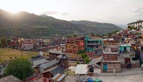 De stad van Chamba bij dageraad Royalty-vrije Stock Foto's