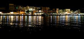 De stad van Chania, promenade Stock Foto