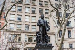 De Stad van Chester Arthur Statue - van New York stock afbeeldingen