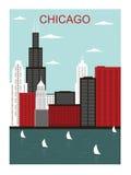 De stad van Chicago. Stock Afbeeldingen