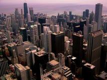De Stad van Chicago Scape #1 Stock Afbeeldingen