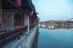 De stad van China Hangzhou Tangqi Royalty-vrije Stock Afbeelding