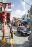 De Stad van China, in Incheon, Zuid-Korea Stock Afbeeldingen