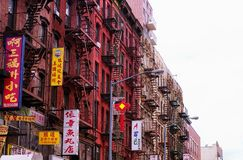 De stad van Chinatownmanhattan New York stock afbeelding
