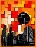 De stad van Colorfull Stock Illustratie