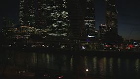 De Stad van commercieel Moskou van het centrum stock videobeelden