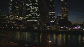 De Stad van commercieel Moskou van het centrum stock footage