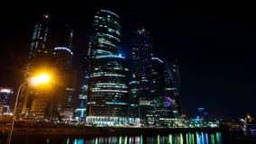 De Stad van commercieel Moskou van het centrum tijd-tijdspanne 20 september, 2014 stock video