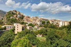 De stad van Corte in Corsica - Frankrijk royalty-vrije stock foto
