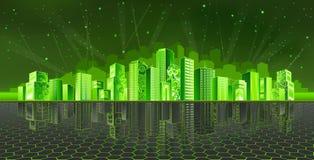 De stad van Cyber Stock Foto's