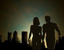 De stad van Dawn vector illustratie