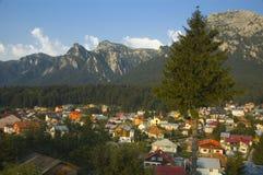 De stad van de berg royalty-vrije stock foto