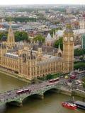De Stad van de Big Ben en van Londen royalty-vrije stock afbeelding
