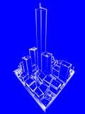 De Stad van de blauwdruk Royalty-vrije Stock Afbeeldingen