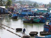 De stad van de Boot van Vientam Royalty-vrije Stock Fotografie