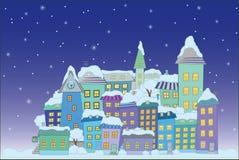 De stad van de bouw weinig stad Stock Afbeelding