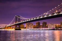 De Stad van de Brugnew york van Manhattan Stock Afbeelding
