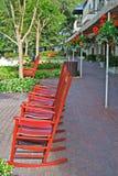 De Stad van de Haven van schommelstoelen Stock Foto's