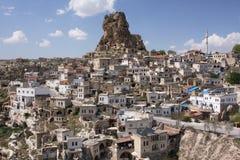 De stad van de heuveltop Stock Afbeeldingen