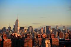 De Stad van de horizonNew York van Manhattan Stock Foto