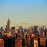 De Stad van de horizonnew york van Manhattan Stock Fotografie