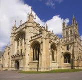 De stad van de kathedraal van Gloucester gloucestershire Engeland Stock Afbeeldingen