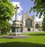 De stad van de kathedraal van Gloucester gloucestershire Engeland Stock Afbeelding