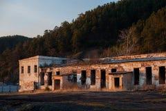 De stad van de lentelistvtanka op het meer van de Baykal Royalty-vrije Stock Afbeeldingen