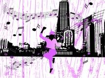 De stad van de muziek stock illustratie