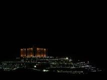 De stad van de nacht royalty-vrije stock afbeelding