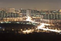 De stad van de nacht. Royalty-vrije Stock Foto's