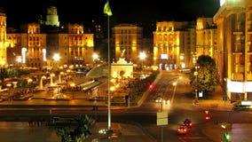 De stad van de nacht stock footage