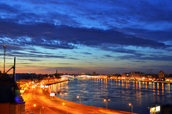 De stad van de nacht Royalty-vrije Stock Fotografie